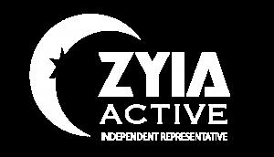 ZYIA Active Logo in white